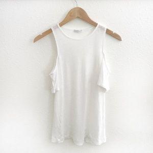 Zara l White Cold Shoulder Top